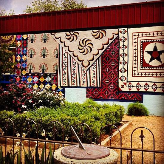 Texas Quilt La Grange Mural Art courtyard