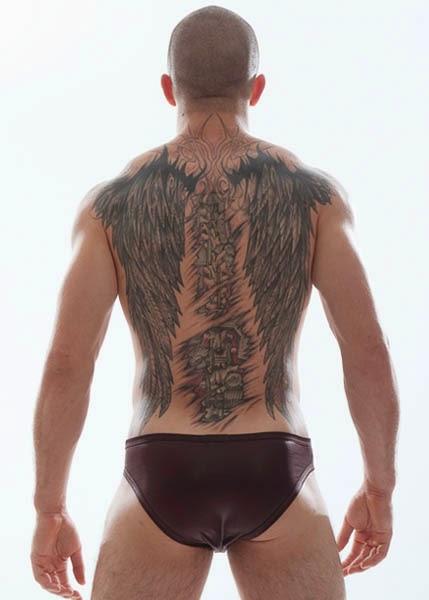 GBGB Wear Josh Bikini Underwear Brown Detail