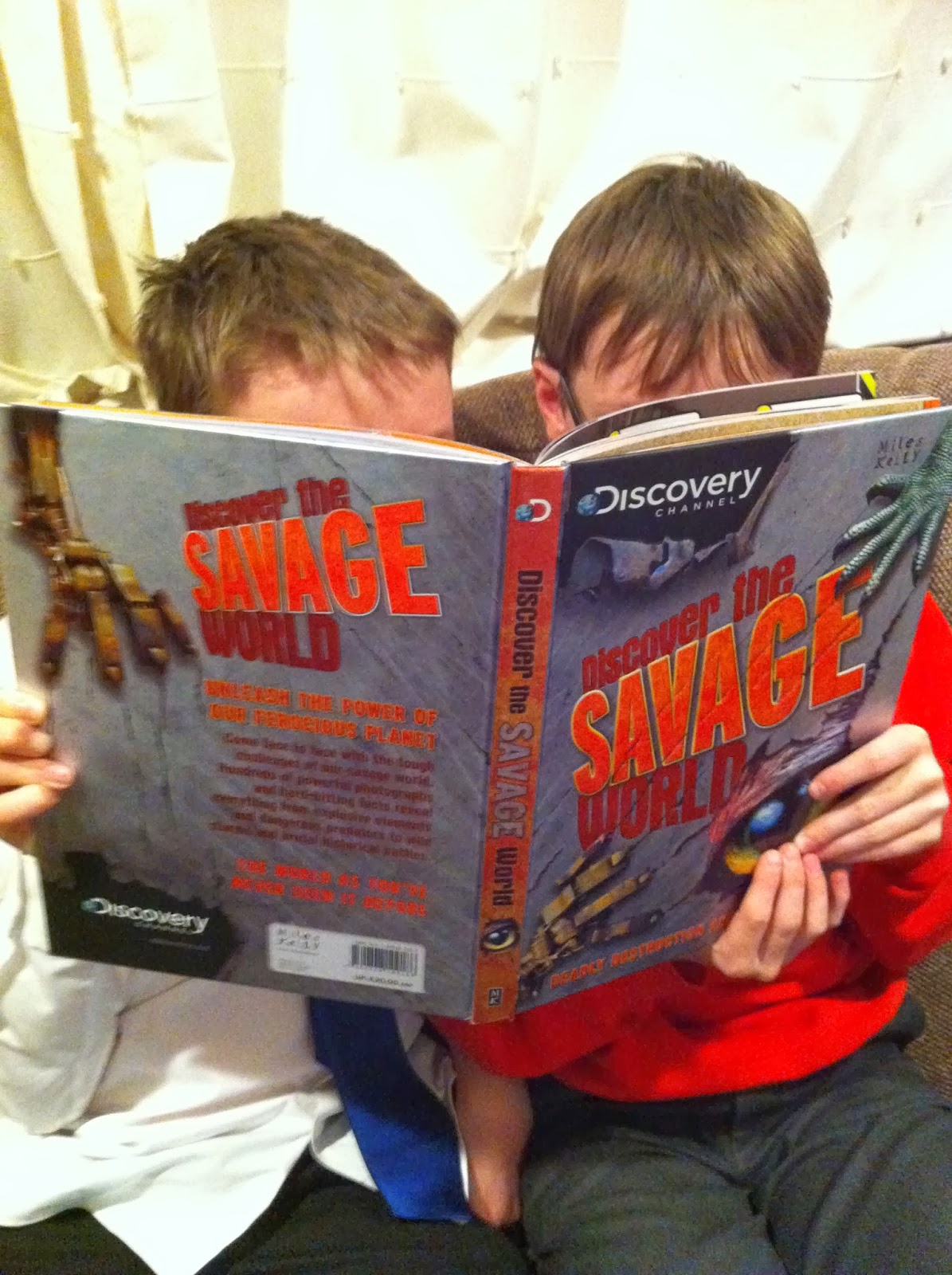 Boys-sons-reading-World-Book-Day