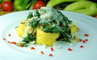 Firinda Ispanaklı Patates