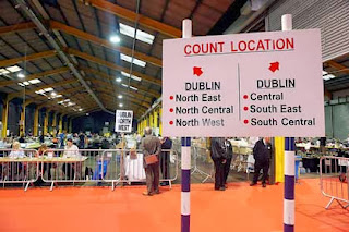The Senate referendum Dublin count center on Saturday.