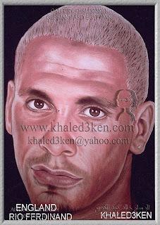 STARS ENGLAND RIO FERDINAND Portrait Drawing Soccer Football Khaled3Ken Gallery