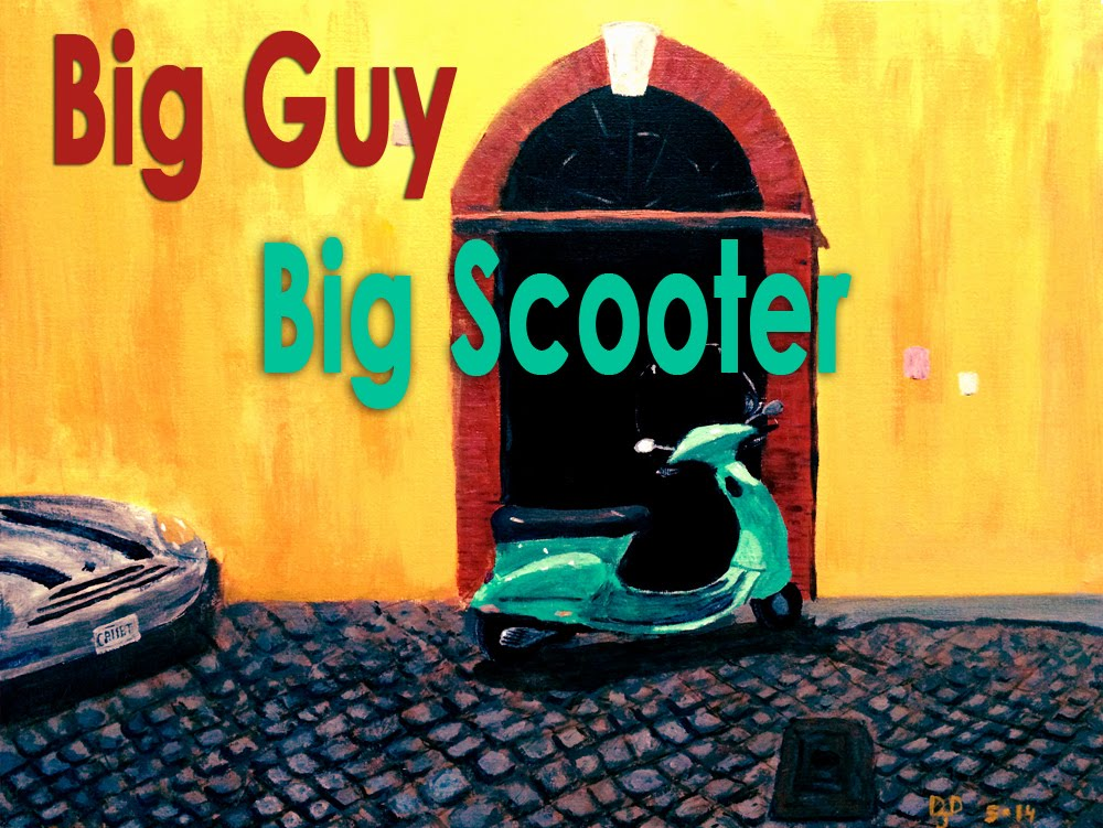 Big Guy Big Scooter