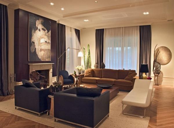 Desain Ruang Tamu Cantik Warna Coklat Gambar Marcelo Brito And Pedro Potaris Arquitetura Interiores