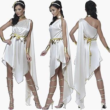 Simple  20 Ladies Greek Roman Grecian Goddess Toga Fancy Dress Womens Costume