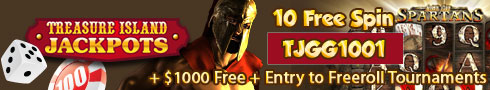 Treasure Island Jackpots Casino Free 10 Promotion