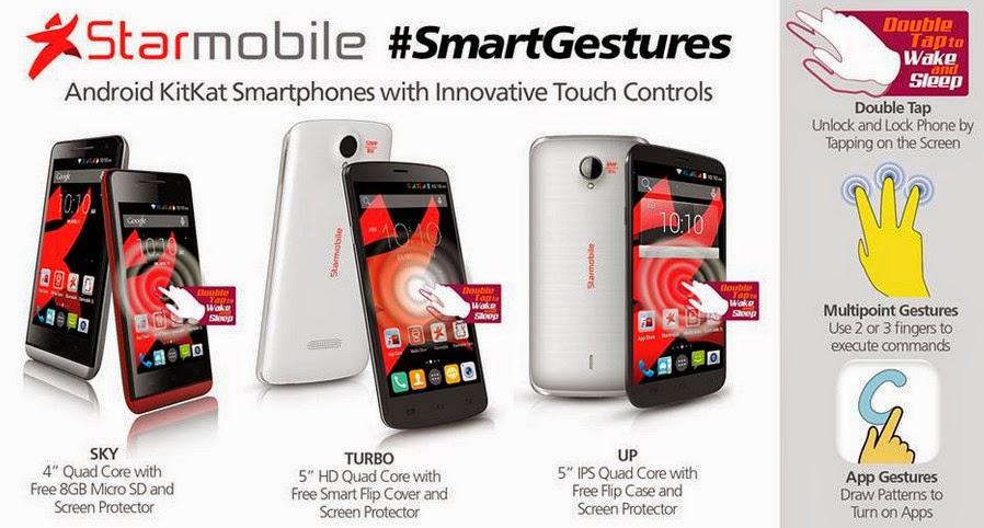 Starmobile Touch Gestures, Starmobile Touch Gestures