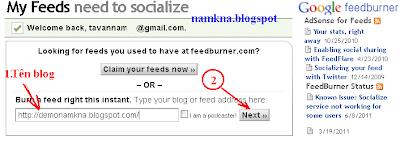Cách đăng ký và sử dụng FeedBurner cho Blogspot