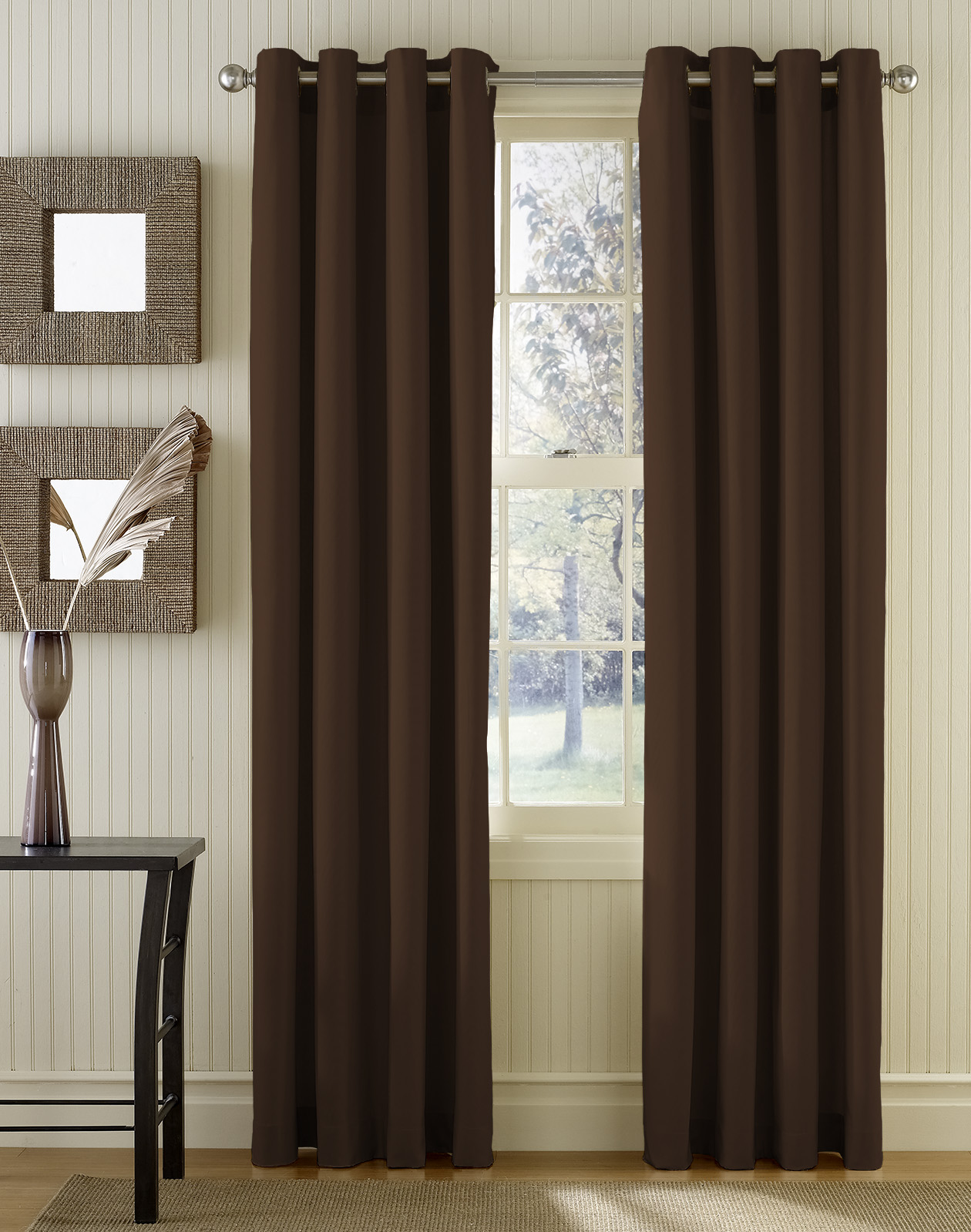 Brown And Red Curtain Panels Brown and White Check Curtains