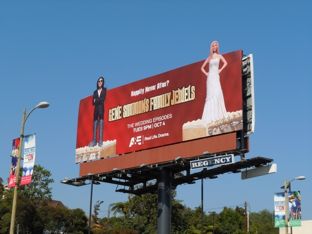 Family Jewels wedding billboard