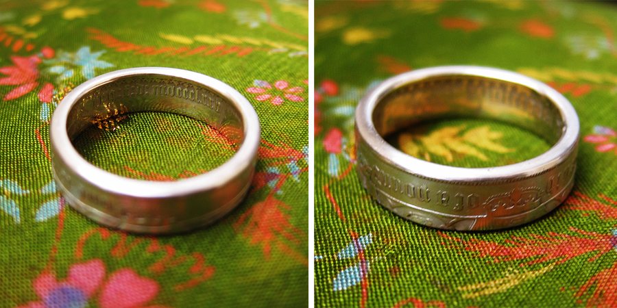 florin ring - Photograph by Tim Irving