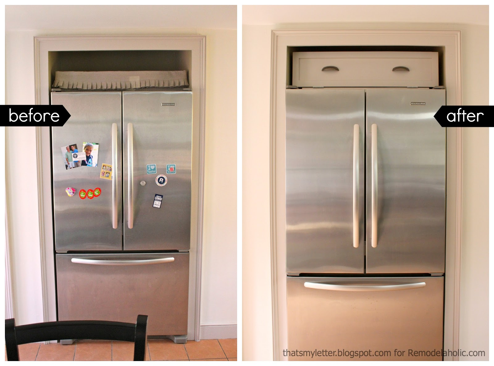 Superbe DIY Over The Fridge Cabinet
