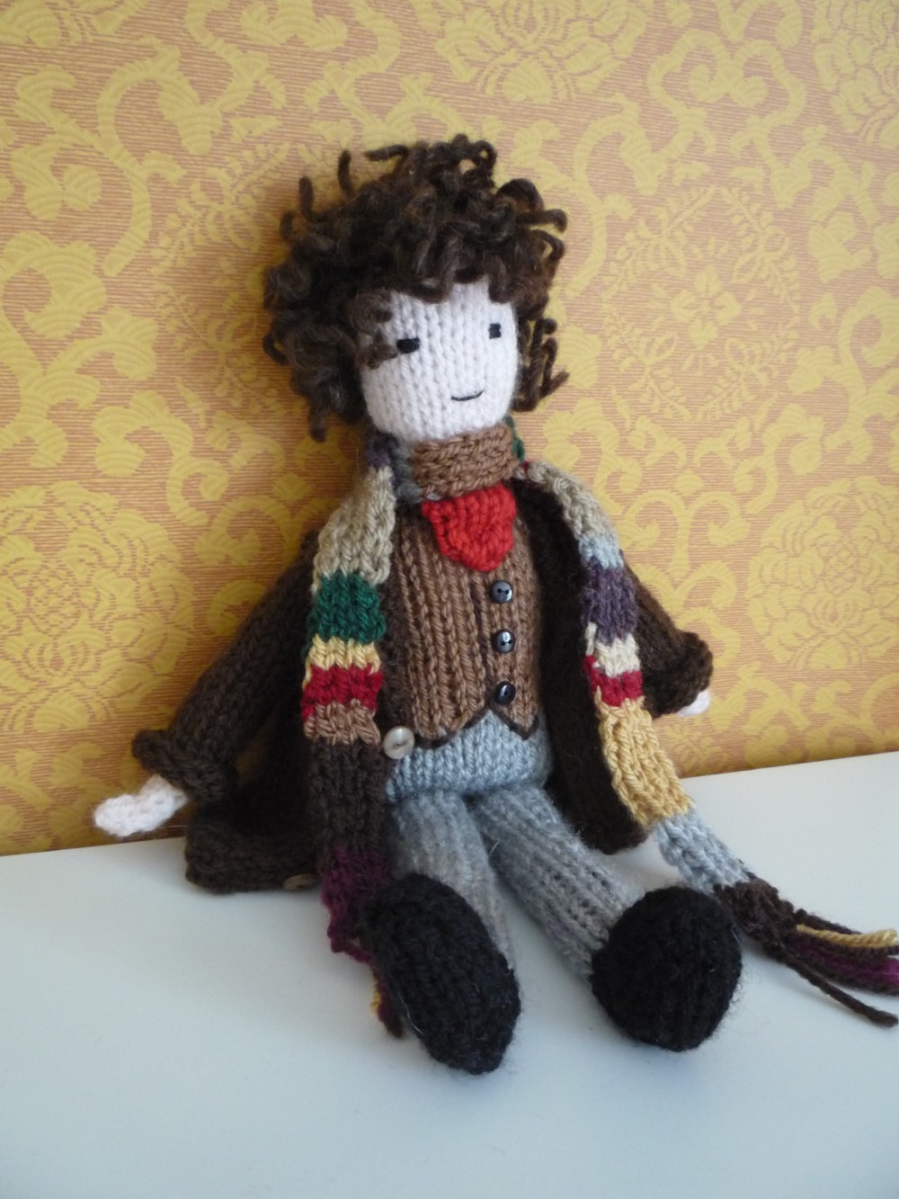 Knit for Victory: Tom Baker doll