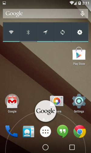 Android 5.0 L Nexus 4
