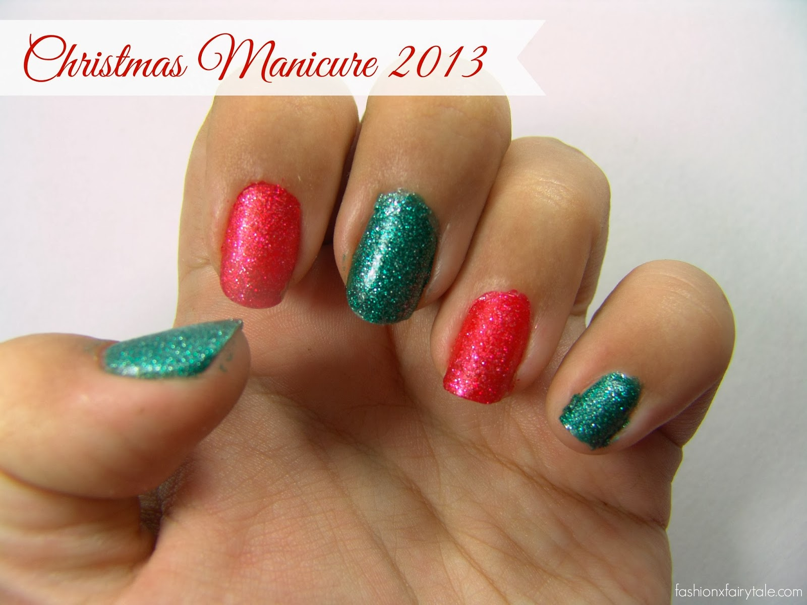 Christmas Manicure 2013 + Giveaway