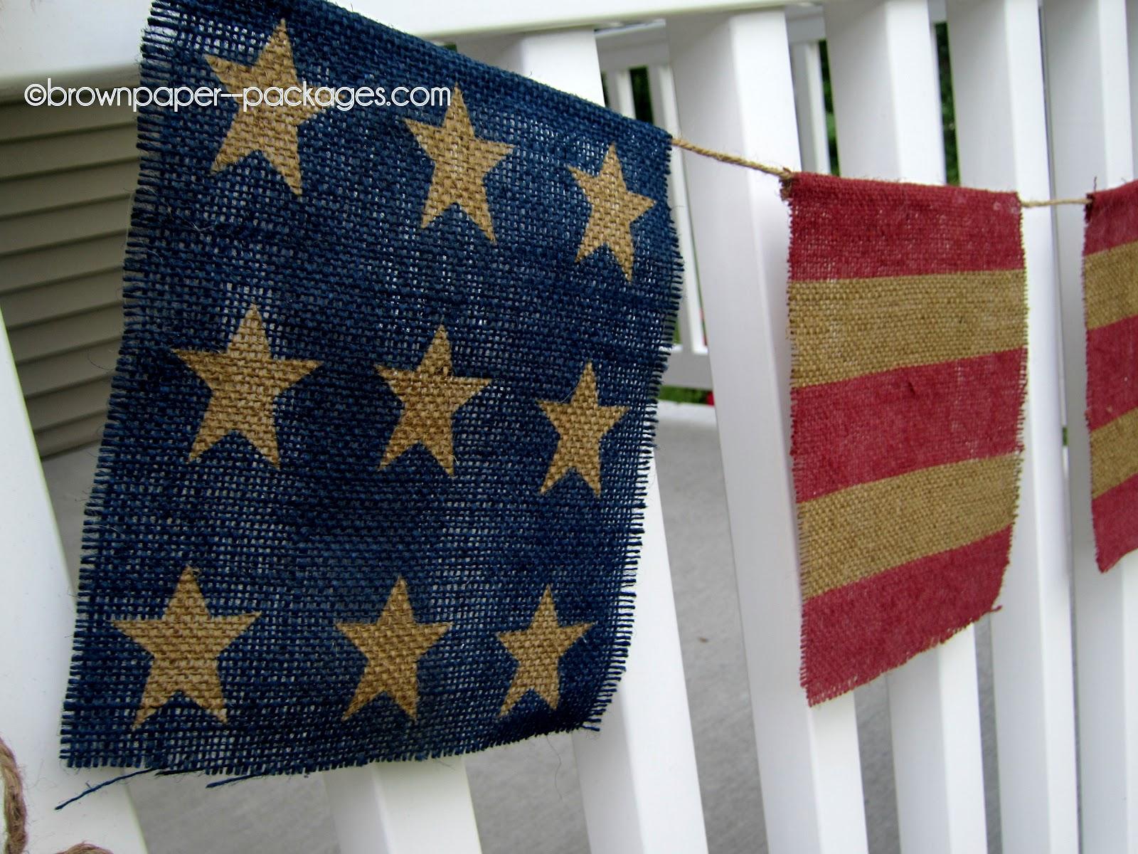 Home Made Modern: Craft of the Week: Burlap Patriotic Bunting