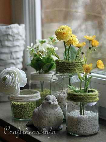 Crafts With Jars Recycled Jar Vases