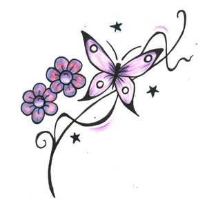 pretty butterfly tattoos designs