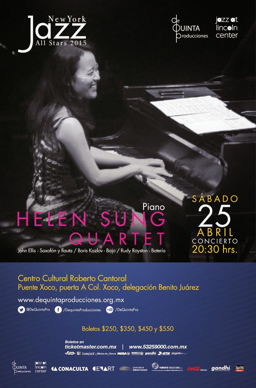 La pianista Helen Sung se presenta en el Centro Cultural Roberto Cantoral
