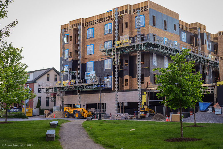 Bay House Condo in Portland, Maine Construction Photograph by Corey Templeton