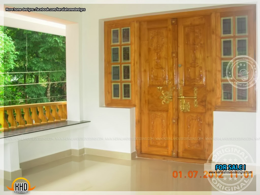 House for sale in thrissur home kerala plans for Home front door design indian style
