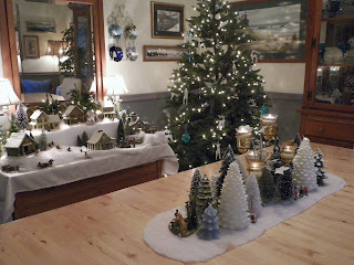 Tabletop christmas tree decorating ideas - From Cedar Pond To Laughing Dove Farm Table Top Snow