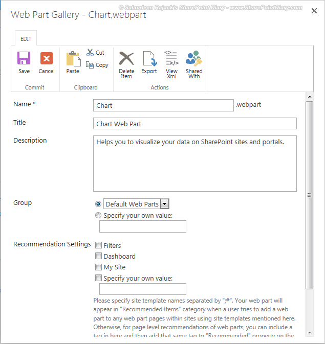 how to enable chart web part in sharepoint 2013