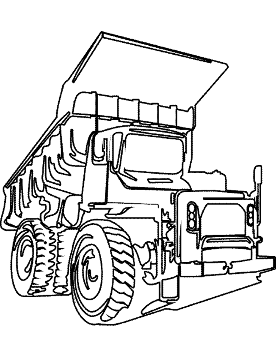 Unique comics animation finest truck coloring pages for Truck color page
