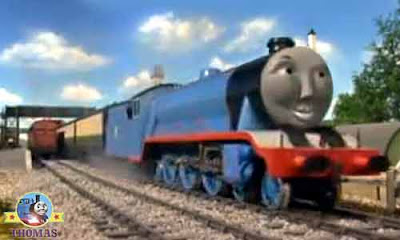 Henry Gordon the express steam railway locomotive engines on the Island of Sodor full of activity