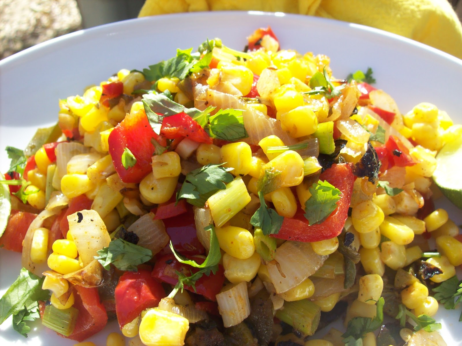 Corn With Chevre And Red Peppers Recipes — Dishmaps