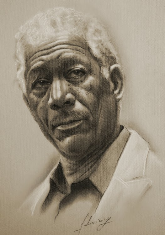 07-Morgan-Freeman-krzysztof20d-2b-and-8b-Pencils-Clear-Pastel-Celebrity-Drawings-www-designstack-co