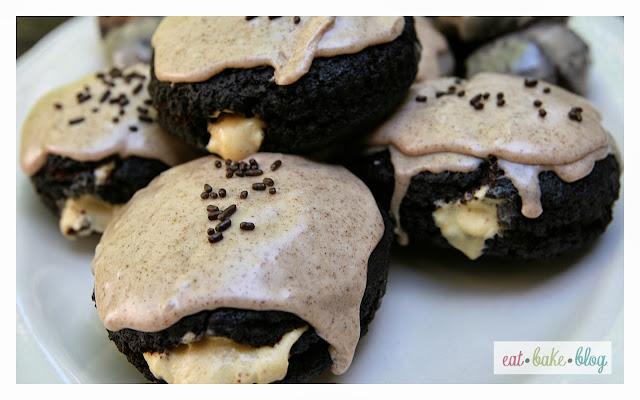 chocolate donuts pumpkin cream cheese donut holes