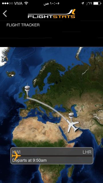 برنامج  FLIGHSTATS للايفون  لمتابعة  الطائرات من الاقلاع الى الهبوط