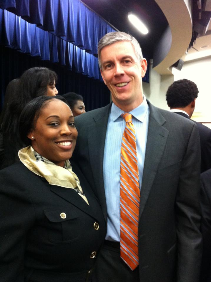 Natascha and Former Education Secretary Arne Duncan