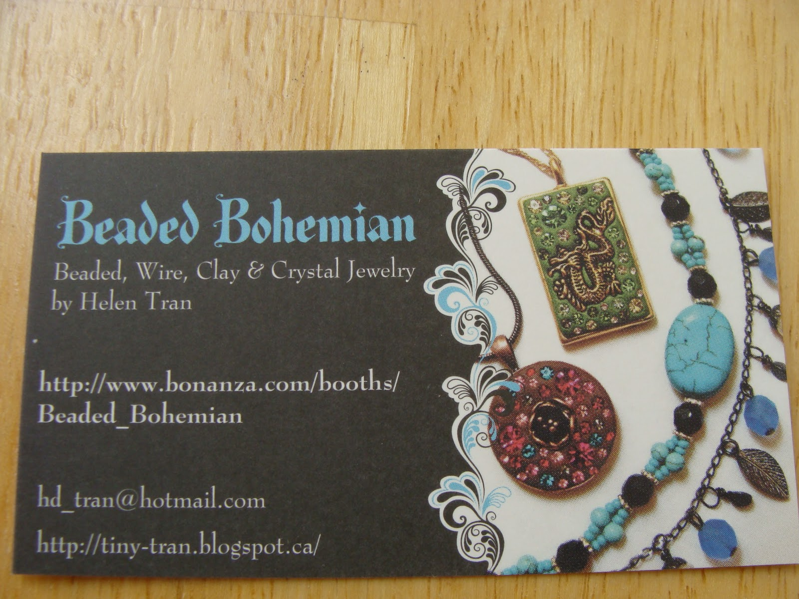 Beads Beads Beads!: Business Cards!
