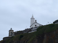 Ermita y Faro de Luarca. Church and Lighthouse of Luarca.
