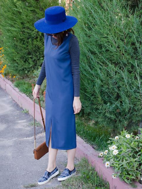 diyorasnotes_blog_blogger_fashion_blogger_blue_dress_hat_asos_river_island_fall_autumn_turtleneck_slipon