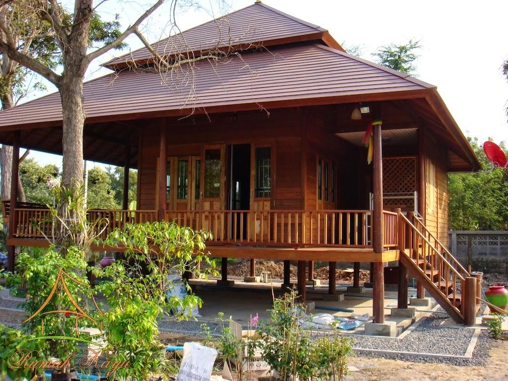 & Model Rumah Kayu Minimalis Khas Pedesaan
