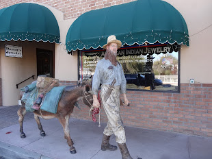 Seward Johsnon Sculpture of Miner and Burro.