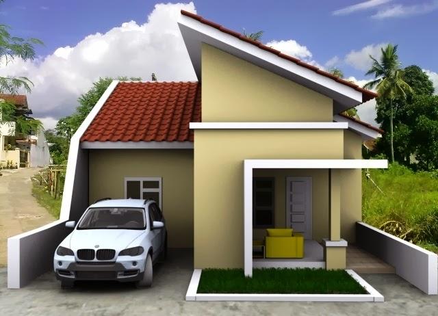 contoh model atap rumah minimalis modern kumpulan gambar