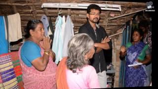 vijay help to dead fans family