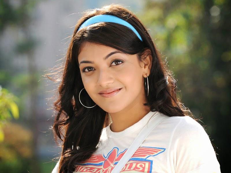 Kajal agarwal in t-shirt