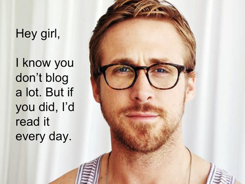 Ryan Gosling Hey Girl Laughing Brown ...