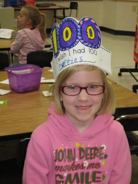 ms woods kindergarten class 100 days of school