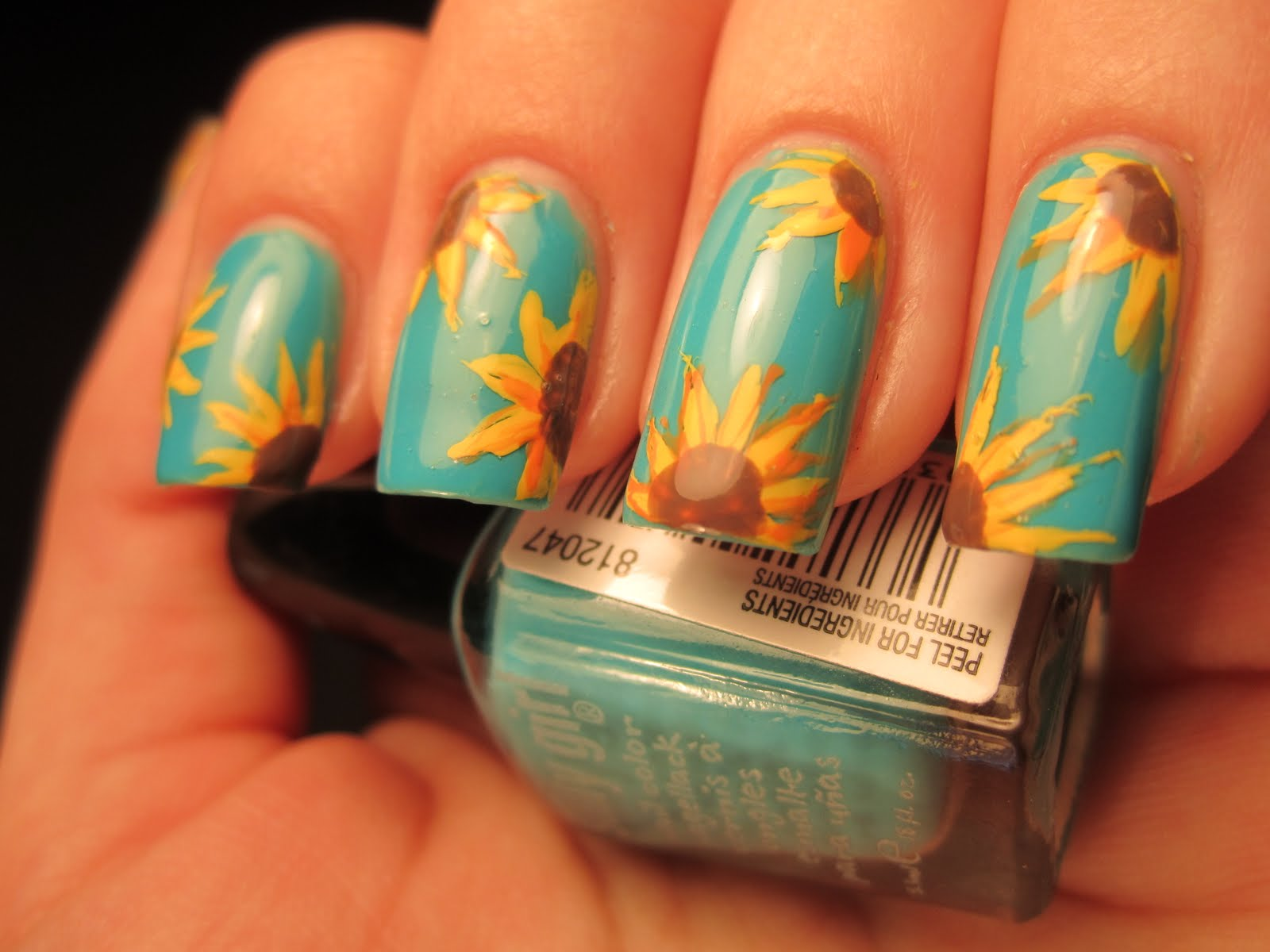 Jessicas Nail Art Sunflowers In The Sky