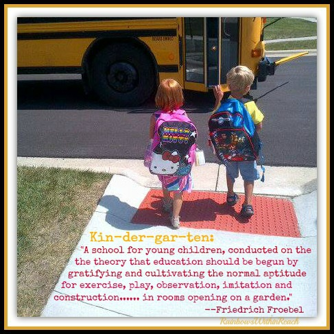 Kindergarten and Riding the BUS {Bus Projects} RainbowsWithinReach