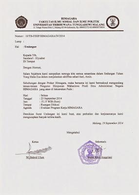 Model Surat Resmi Himagara Unitri