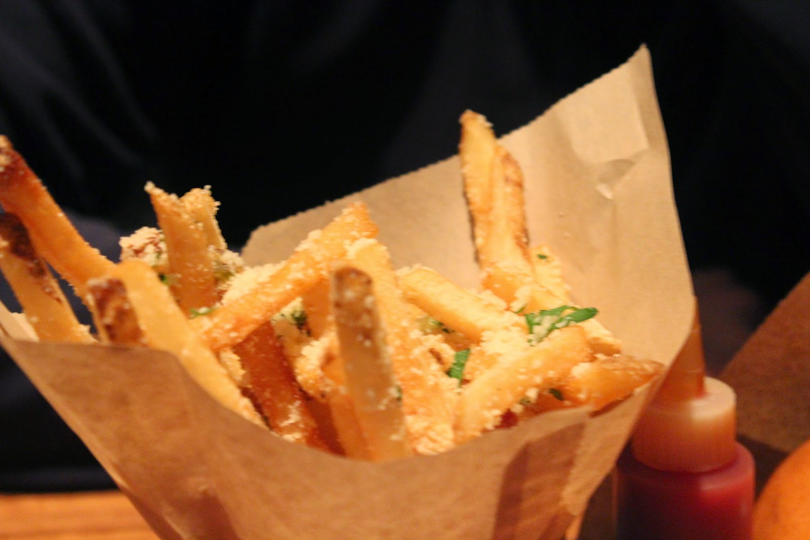 Sea salt and Parmesan fries at Del Frisco's Grille