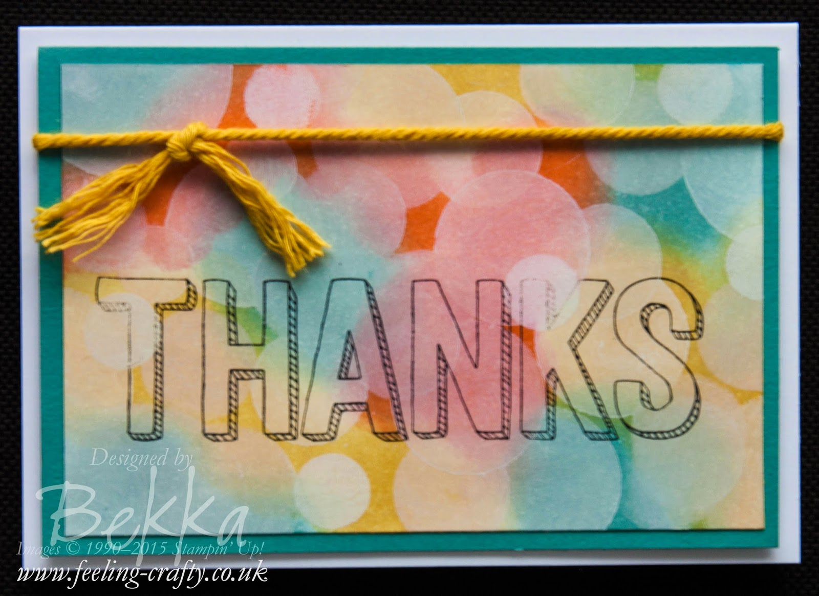 Thank You Card using Free Stampin' Up! Products - get yours here