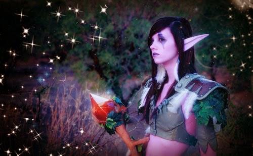 Disfraz de elfa oscura para Halloween